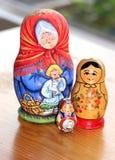 Tres matrioshkas Imágenes de archivo libres de regalías