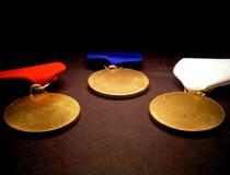 Tres medallas Imágenes de archivo libres de regalías