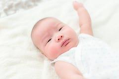 Tres meses recién nacidos de bebé fotos de archivo