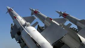 Tres misiles Imágenes de archivo libres de regalías