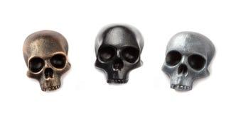 Tres modelos del cráneo imagen de archivo libre de regalías