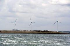 Tres molinoes de viento Imágenes de archivo libres de regalías