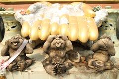 Tres monos Fotografía de archivo libre de regalías
