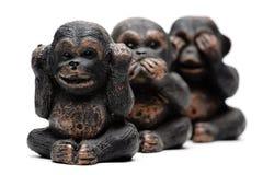 Tres monos Imagen de archivo