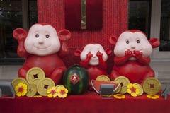 Tres monos Foto de archivo libre de regalías