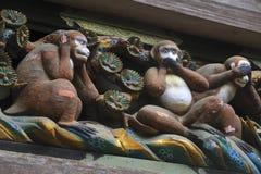 Tres monos sabios Foto de archivo libre de regalías