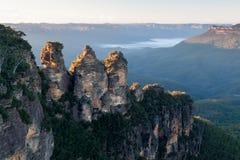 Tres montañas de las hermanas Imagen de archivo libre de regalías