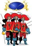 Tres mosqueteros stock de ilustración