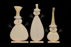 Tres muñecos de nieve Foto de archivo libre de regalías