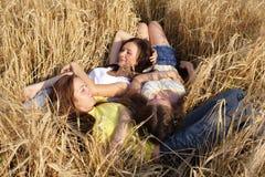 Tres muchachas Imagen de archivo
