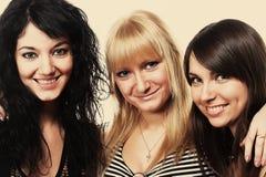 Tres muchachas adolescentes Imagen de archivo libre de regalías