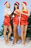 Tres muchachas bastante atractivas Fotos de archivo libres de regalías