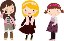Tres muchachas, cabritos