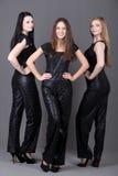 Tres muchachas en traje de la tarde Fotos de archivo libres de regalías