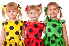 Tres muchachas sonrientes Foto de archivo libre de regalías