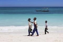 Tres muchachos africanos Fotografía de archivo libre de regalías