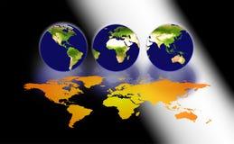 Tres mundos Imagenes de archivo