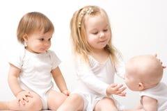 Tres niñas fotos de archivo