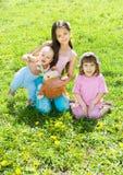 Tres niños Foto de archivo libre de regalías
