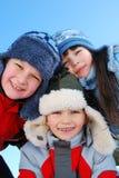 Tres niños felices imágenes de archivo libres de regalías
