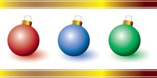 Tres ornamentos coloridos Imagen de archivo