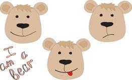 Tres osos con un diverso humor Libre Illustration