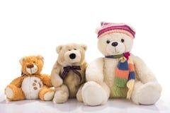 Tres osos de peluche del juguete Imagen de archivo libre de regalías
