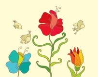 Tres pájaros Imágenes de archivo libres de regalías
