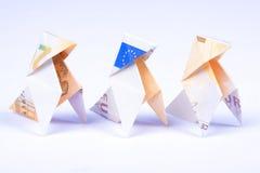 Tres pájaros de papel Foto de archivo libre de regalías