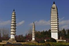 Tres pagodas imagen de archivo