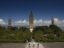 Tres pagodas Fotografía de archivo