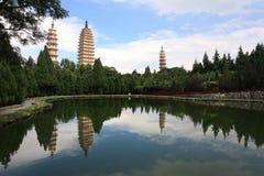 Tres pagodas fotos de archivo