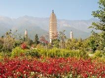 Tres pagodas Dali, China Foto de archivo