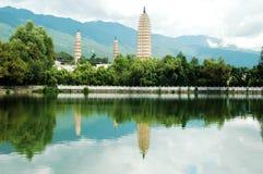 Tres pagodas en dali Foto de archivo