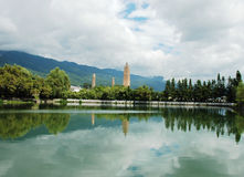Tres pagodas en Dali Fotos de archivo