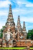 Tres pagodas en Tailandia Fotos de archivo libres de regalías
