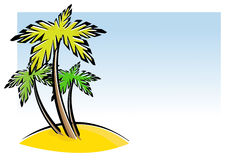Tres palmeras Imágenes de archivo libres de regalías