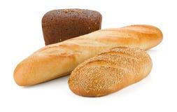 Tres panes de pan Foto de archivo libre de regalías