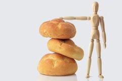 Tres panes de pan Imágenes de archivo libres de regalías
