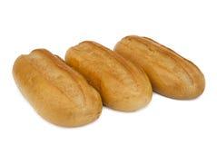 Tres panes de pan blanco Foto de archivo