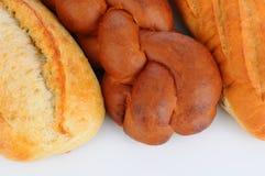 Tres panes de pan cocido al horno fresco Fotografía de archivo libre de regalías