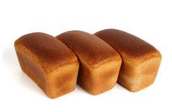 Tres panes de pan de centeno Imagen de archivo libre de regalías