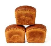 Tres panes de pan de centeno Fotografía de archivo libre de regalías