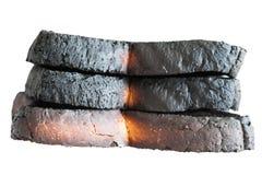 Tres panes de pan quemado Foto de archivo libre de regalías