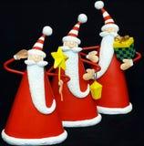 Tres Papá Noel Imagen de archivo