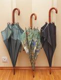 Tres paraguas Foto de archivo libre de regalías