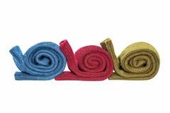 Tres pares de calcetines de las lanas del invierno Foto de archivo libre de regalías