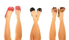 Tres pares de zapatos Imagen de archivo libre de regalías