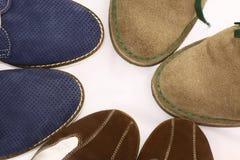Tres pares de zapatos del hombre Fotos de archivo