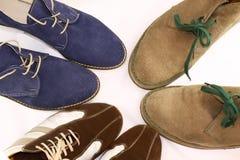 Tres pares de zapatos del hombre Fotografía de archivo libre de regalías